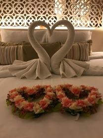 Bett zur Begrüßung