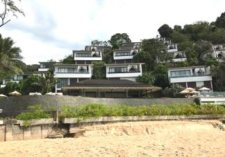 Hotel vom Strand aus fotografiert